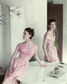 Mary Jane Russell (left)  January 1, 1954.  Photo by Frances McLaughlin-Gill.