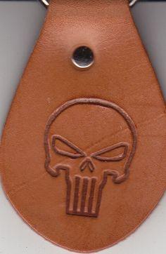 SKULL / Punisher embossing stamp Delrin leatherwork