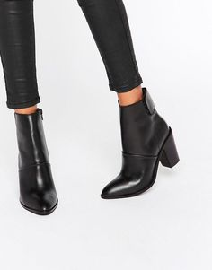 Image 1 of ASOS EFFIE Leather Ankle Boots