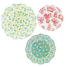 Pastries and Pearls Doilies- place mats and other decor