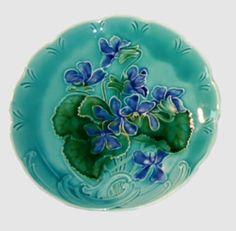 Majolica Violet Plate