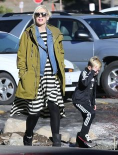 Gwen Stefani and Gavin Rossdale spend their last day in Mammoth, California with their boys Kingston and Zuma (January 5, 2014)