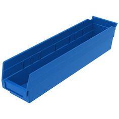 """Akro Mils Shelf Bin (Set of 6) Size: 4"""" H x 4.13"""" W x 23.63"""" D, Color: Hunter Green"""