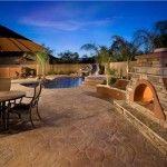 Concrete Pool Decks - Phoenix, AZ - Photo Gallery - The Concrete Network Cement Patio, Concrete Pool, Stamped Concrete, Decorative Concrete, Concrete Stamping, Cement Floors, Concrete Design, Polished Concrete, Backyard Gazebo