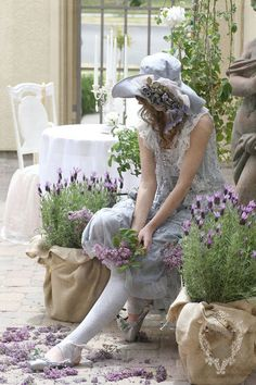 ozma of odds: lilac festival fairy april showers bring may flowers shabby chic style photos photo texture friday VIF hand dyed lilac ballet shoes feathered nest friday