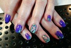 Forget me not #dementia #alzheimers awareness nail art by Heather Jenkins