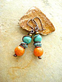 Boho Earrings  Boho Jewellery  Wire Wrapped by HandcraftedYoga, $21.00