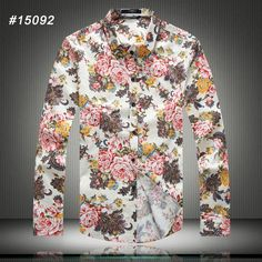 2016 New Spring High Quality Plus Size Long Sleeved Floral Print Shirts Men Fashion Slim Fit Shirts Dress Shirts US/EU Size-in Casual Shirts from Men's Clothing & Accessories on Aliexpress.com | Alibaba Group