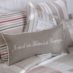 fodera di cuscino beige in cotone 40 x 40 cm felicite atelier maisons du monde - Maison Du Monde Ballerina