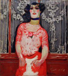 Frantisek Kupka (1871 -1957) Gallien's Taste (Cabaret Actress) 1909-10 Oil on Canvas.    Seen in the Centre for Modern and Contemporary Art, Veletrzni (Trades Fair) Palace, Prague.