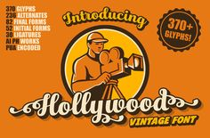 Hollywood • Vintage Font by @Graphicsauthor