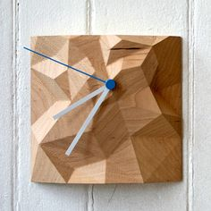 Block Clock 6x6 Maple now featured on Fab.