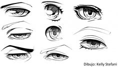 Resultado de imagen para como dibujar ojos anime paso a paso