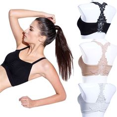 Sexy Women beauty back embroidery wrapped chest with a chest pad Sexy female Strappy Crop Top Tank Bustier Bra Corset Vest