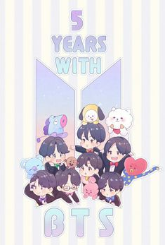 5 years with BTS and still count again until forever Bts Bangtan Boy, Bts Jungkook, Chibi Bts, Fanart Bts, Les Bts, Bts Backgrounds, Bts Drawings, Bts Fans, Bts Lockscreen