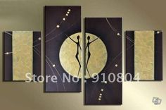 Framed 4 Panels Huge Wall Art,Canvas Painting,Abstract Oil Painting,Handmade Paintings,Group Oil Paintings,Canvas art ---XD00083