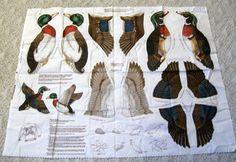 Duck Fabric Panel, 2D Ducks, Cranston Print Works, VIP Fabrics, 2D Wall Hangings, Duck Season, Wood Duck, Mallard Duck - pinned by pin4etsy.com