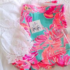 Blue and Pink Buttercup Shorts