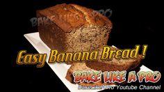 Easy Banana Bread Recipe - Super Moist !