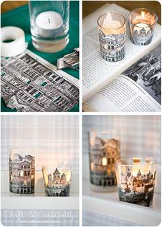 vasos portavelas decorados