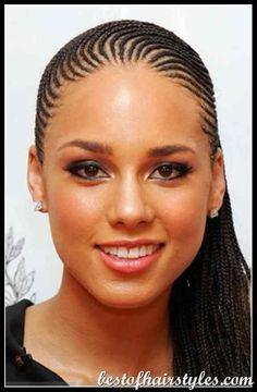Alicia Keys braids...