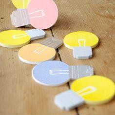 Cute sticky notes Bookmark Bulb sticky notes by PokemonGarden