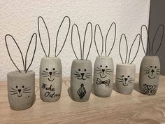 Timestamps DIY night light DIY colorful garland Cool epoxy resin projects Creative and easy crafts Plastic straw reusing ------. Easter Projects, Easter Crafts, Cement Art, Cork Art, Concrete Crafts, Wine Cork Crafts, Spring Crafts, Easter Bunny, Diy For Kids