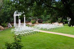 The garden gazebo - ready for another beautiful wedding at Stonebrook Manor.  #StonebrookWeddings #WeddingVenue #SummerWedding