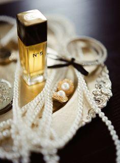 Chanel No. 5 & pearls / photo by @Christina Brosnan