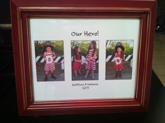 """Father's Day gift for a firefighter dad. """"Our Hero DAD"""" K and M 2013"""