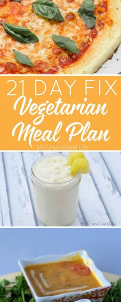 Here's a 21 Day Fix vegetarian meal plan for anyone who like to avoid meat! You can still enjoy all the great benefits and conveniences of a meal plan!