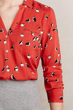 Conversationalist Buttondown - anthropologie.com