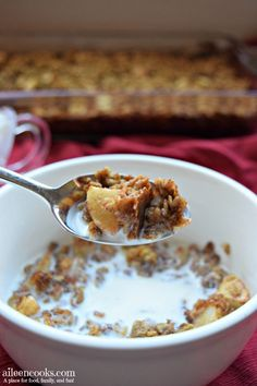 Make-Ahead Baked Oatmeal with Apples - Aileen Cooks