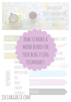 How to make a mood board for your blog using PicMonkey