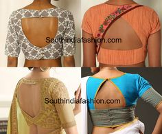 Triangle Shaped Blouse Back Neck Designs – South India Fashion Salwar Neck Designs, Saree Blouse Neck Designs, Kurta Designs, Blouse Neck Models, Simple Blouse Designs, Stylish Blouse Design, South Indian Blouse Designs, Sari Design, Designer Kurtis