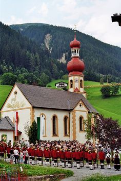 Traditional ceremony at Church of St Martin - Innsbruck, Tirol, Austria.