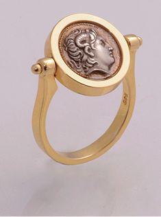 Georgeartjewels,Fine gold silver jewels,art jewelry by George,on line shop for fine jewelry, high creativity and ancient greek designs for jewels Coin Jewelry, Jewelry Art, Jewelry Rings, Jewelery, Silver Jewelry, Vintage Jewelry, Mens Jewellery, Coin Necklace, Gold Coin Ring