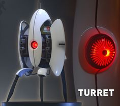 A turret model with motion sensor, action, and sound... it does everything but shoot.  I might have to have it.