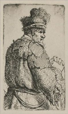An Old Man Seen from Behind - Rembrandt