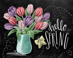 ♥ Hello Spring ♥ ♥ L I S T I N G ♥ Each image is originally hand drawn with chalk