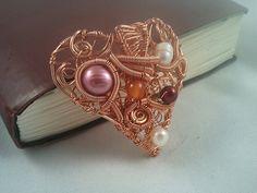 Wire Wrapped Pendant  Copper Pendant  Heart by EmmaWyattArt, £24.00