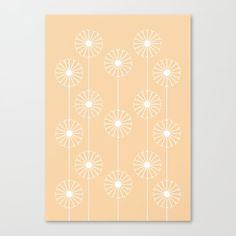 Dandelion Pattern #2 | Springtime approaching with a beautifully illustrated dandelion design. #graphicdesign #design #illustration #unique #flowery #girly #botanic #pattern #botanical #plant #flower #patterns #plants #elegant #flowers #floral #nature #garden #kathrinmay #dandelion #society6 #artprint