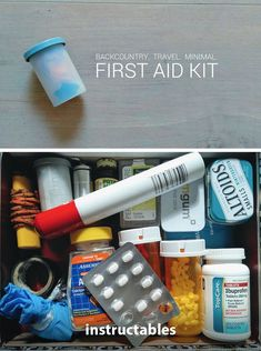 Backcountry First Aid Kit Emergency First Aid, Emergency Survival Kit, Emergency Supplies, Outdoor Survival, Survival Knife, Survival Tips, Backpacking First Aid Kit, Backpacking Gear List, Emt Bag