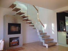 Designtrapp med stålvanger og eiketrinn | Design stair with steel stringers and oak steps. Stairs, House, Inspiration, Home Decor, Design, Staircases, Biblical Inspiration, Stairway, Decoration Home