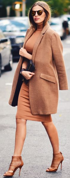 The Secret Stop Shades Of Camel Fall Street Style Inspo
