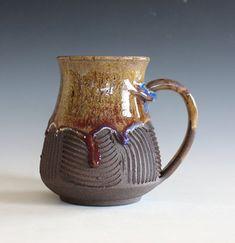 Pottery Mug, 17 oz, ceramic cup, handthrown mug, stoneware mug, pottery mug, unique coffee mug, ceramics and pottery