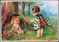 Welcome Spring! // vintage postcard