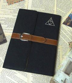 Black Leather iPad Mini Case ipad 2 3 4 case Deathly by HaHaCup