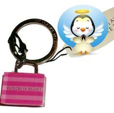 Victoria's Secret Pink Dream Angels Tote Bag keychain keyring handbag purse size