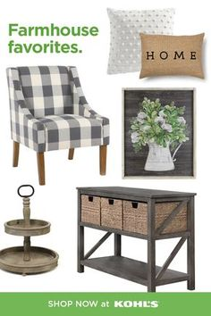 It's never too late to try the farmhouse trend. Mix rustic accents, natural tones and woven textures to bring the look to life at home. Shop farmhouse decor, plus throw pillows, furniture and more at Kohls.com. #farmhouse #happyathome Woodworking Shop Layout, Woodworking Bench Plans, Unique Woodworking, Woodworking Projects That Sell, Woodworking Furniture, Router Woodworking, Popular Woodworking, Green Woodworking, Japanese Woodworking